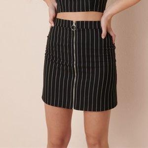 NWT Garage Sierra Furtado XXS Black Plaid Skirt